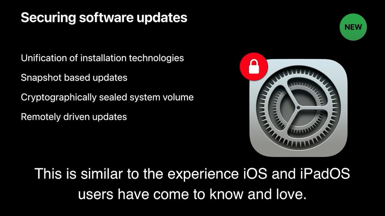 macOS 11 Big Surのソフトウェア・アップデート
