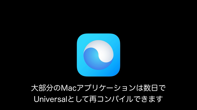 macOS 11 Big Sur Universal Binary