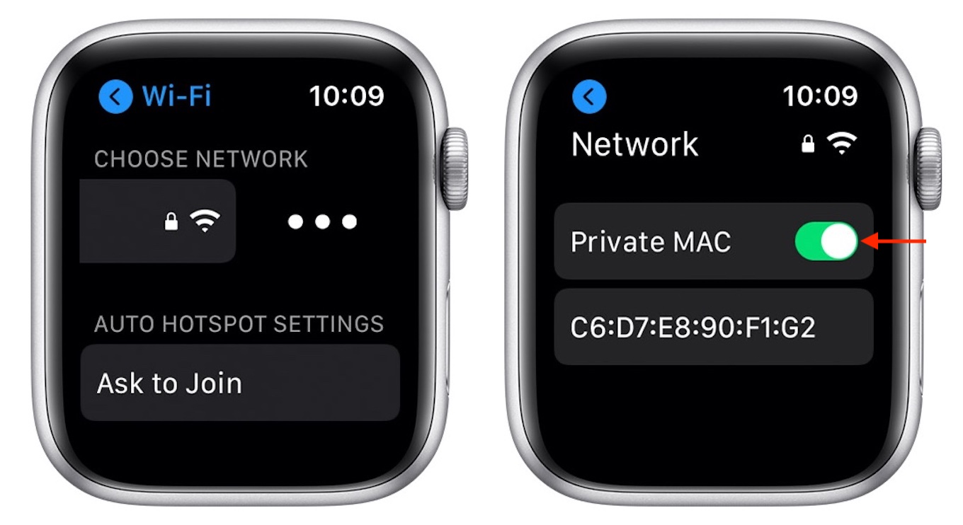 watchOS 7 Use Private Address
