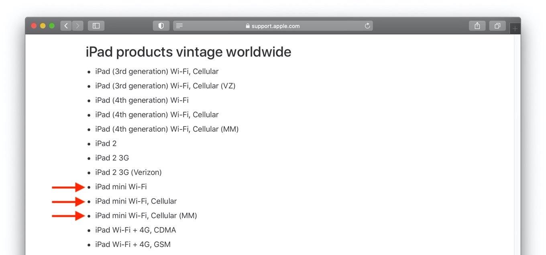 iPa mini products vintage worldwide