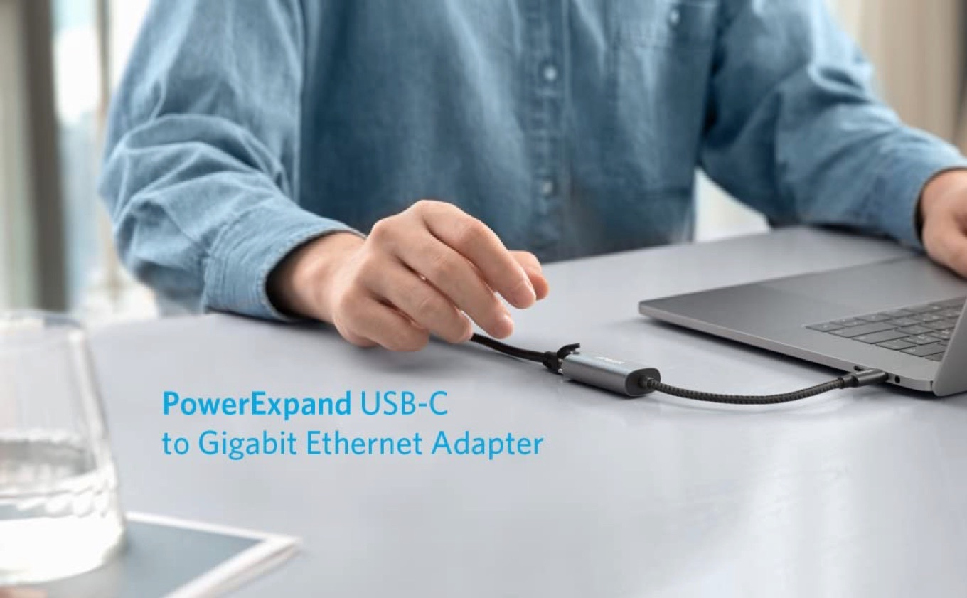 PowerExpand USB-C to Gigabit Ethernet Adapter