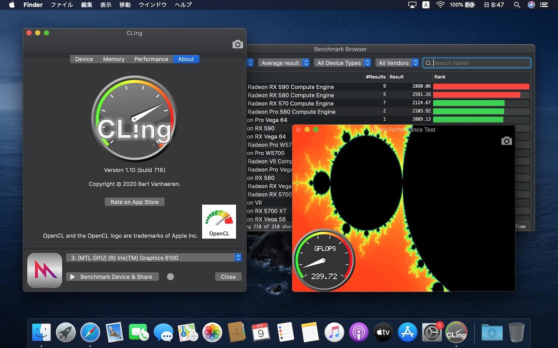 CL!ng for Macのベンチマークスコア