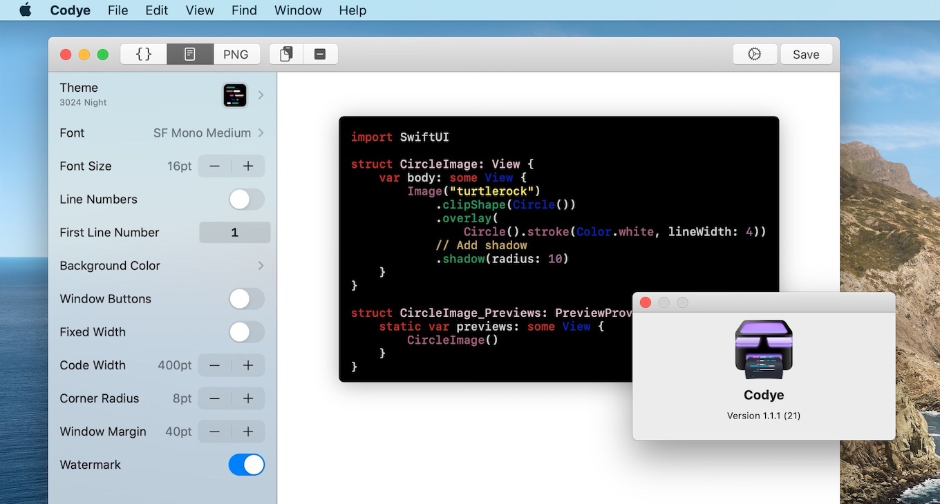 Codye for Mac v1.1