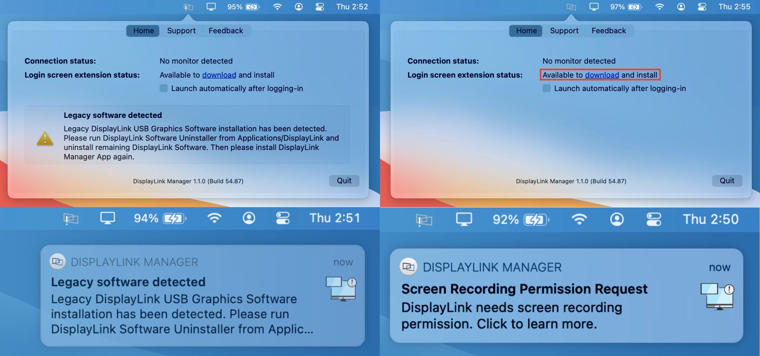 DisplayLink macOS Software