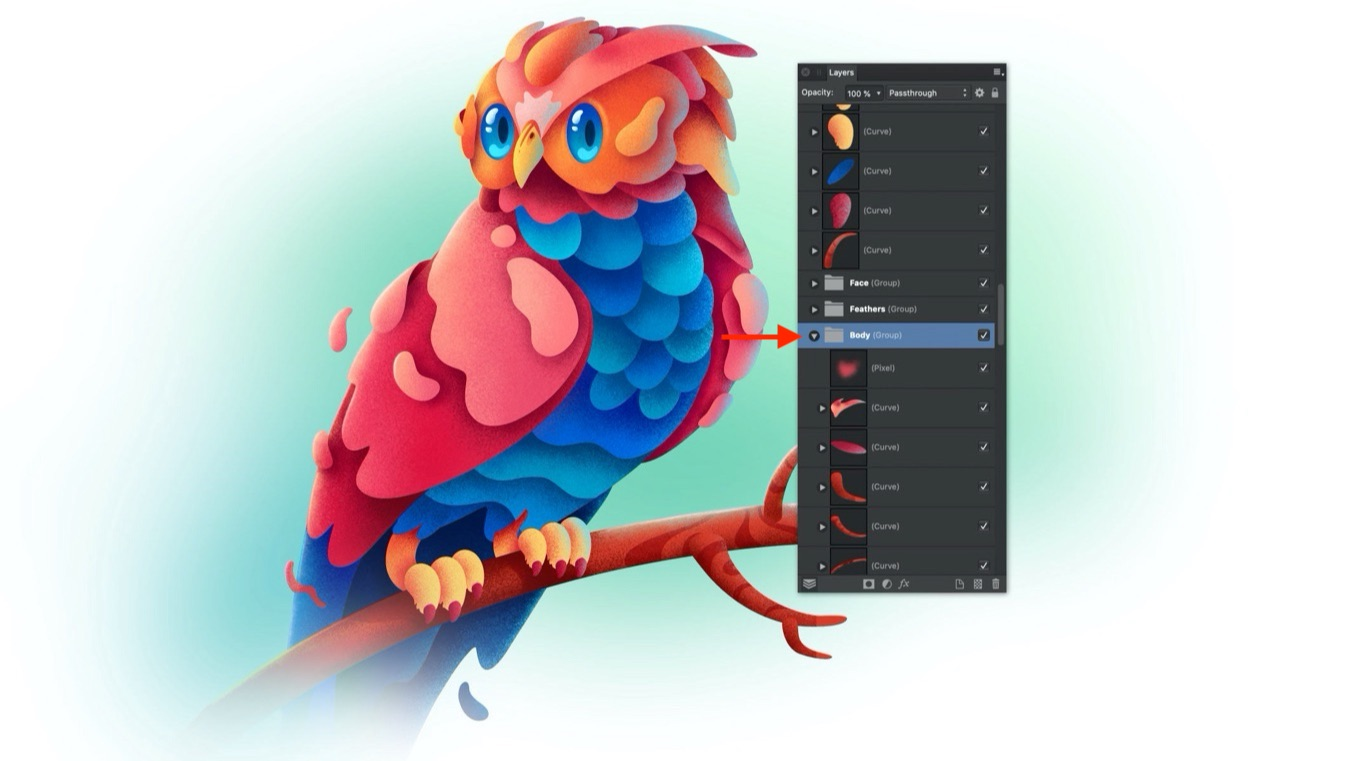 Folder-icons-Affinity Photo group layer