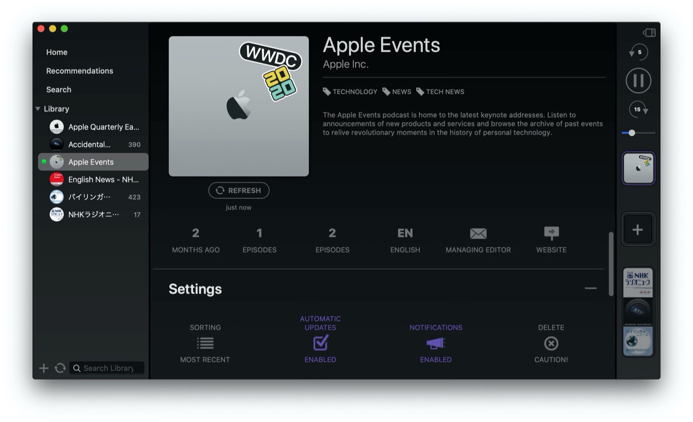 Mimir Powerful Podcasts Player for Mac