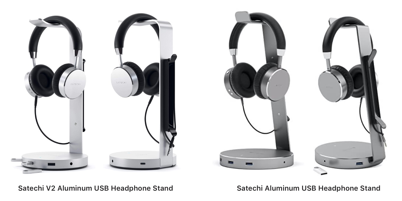 Satechi USB Headphone Stand V2 and V1