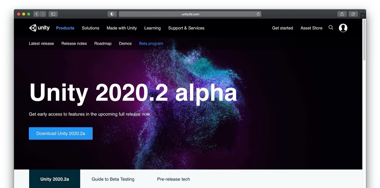 Unity 2020.2.0a21