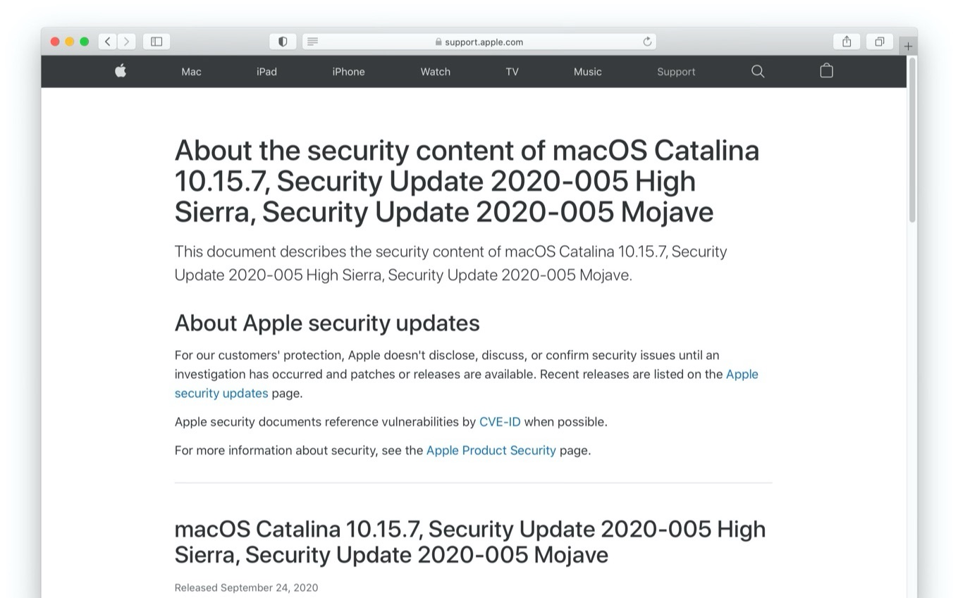 Security Update 2020-005