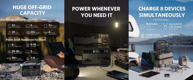 Anker PowerHouse 400の充電性能