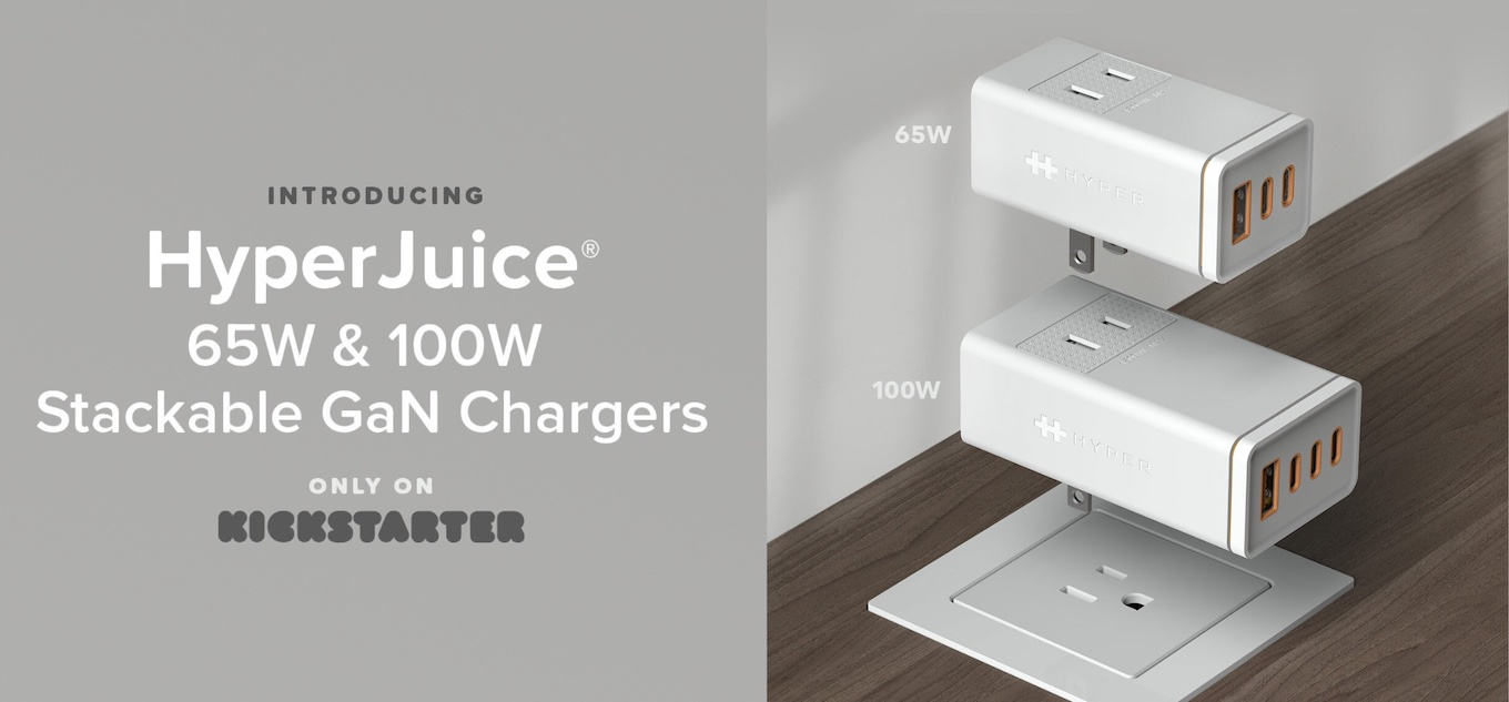 HyperJuice Stackable GaN Charger (65W & 100W USB-C)