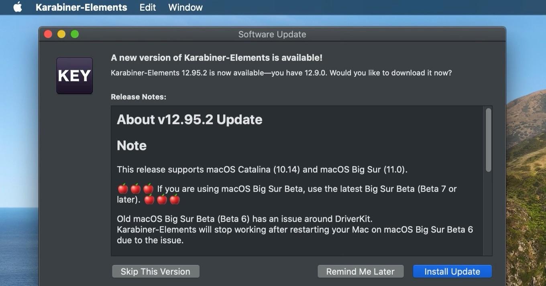 Karabiner-Elements for macOS Big Sur