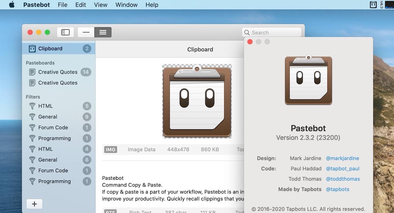 Pastebot Version 2.3.2