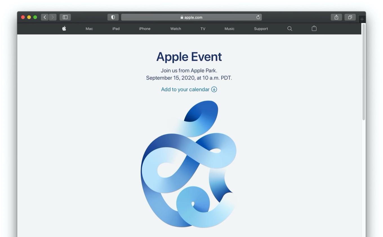 Appleスペシャルイベント September 15, 2020