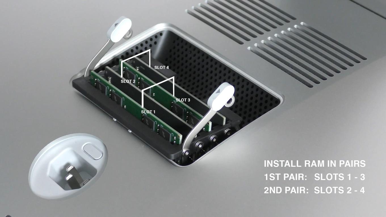iMac (Retina 5K, 27インチ, 2019)のメモリスロットペア