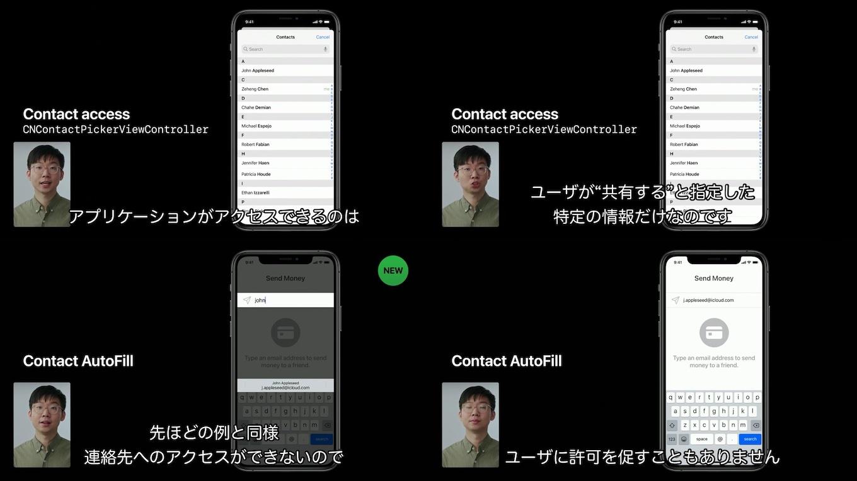 iOS 14のContact AutoFill