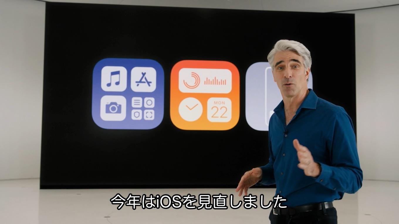 iOS 14のホームスクリーン