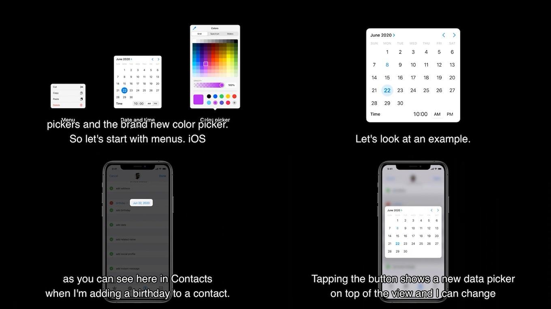 iOS 14の日付と時刻ピッカー