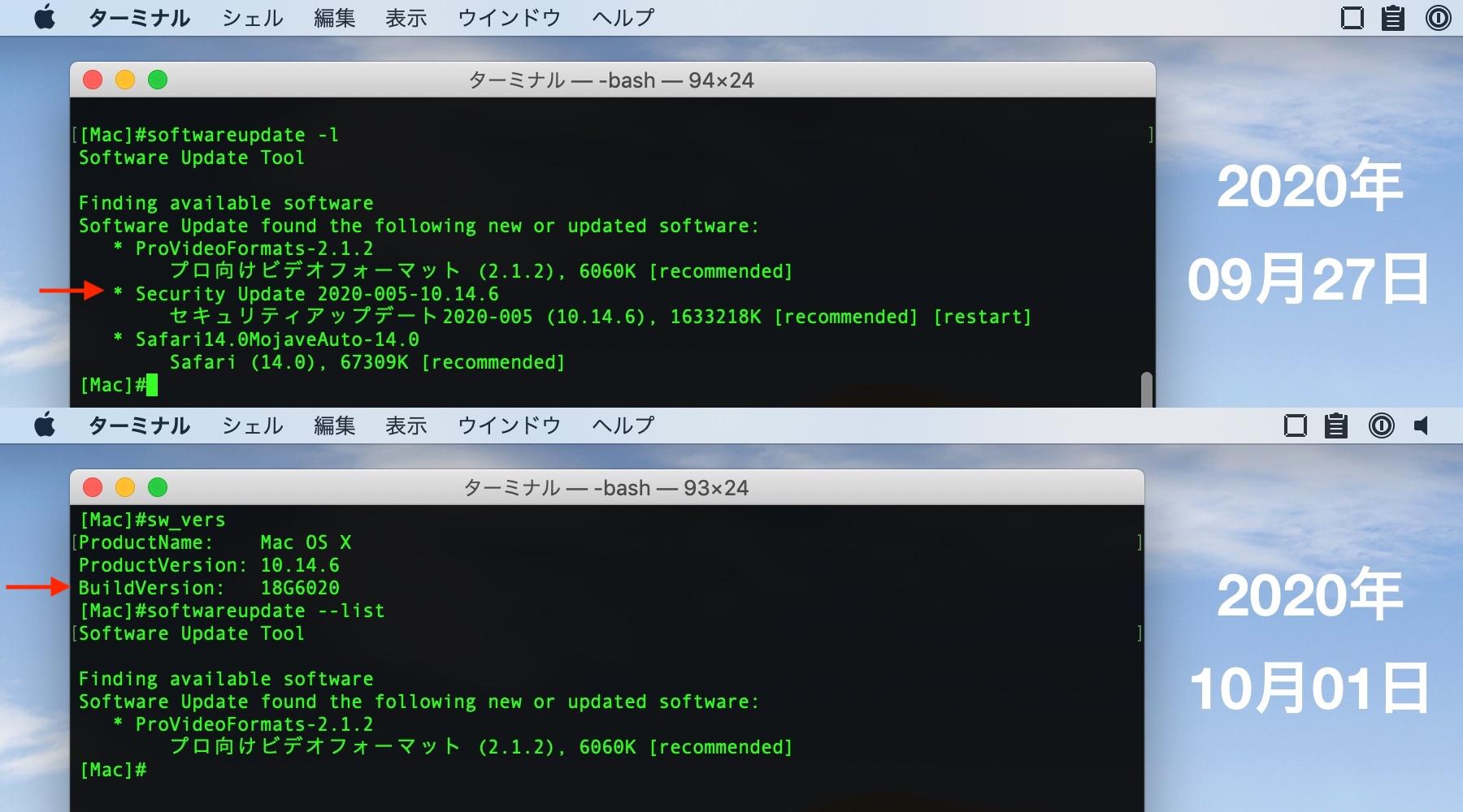 macOS 10.14.6 Mojave Build 18G6032