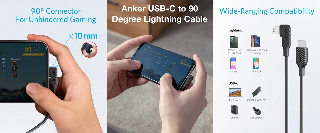 Anker USB-C to 90 Degree Lightning Cable