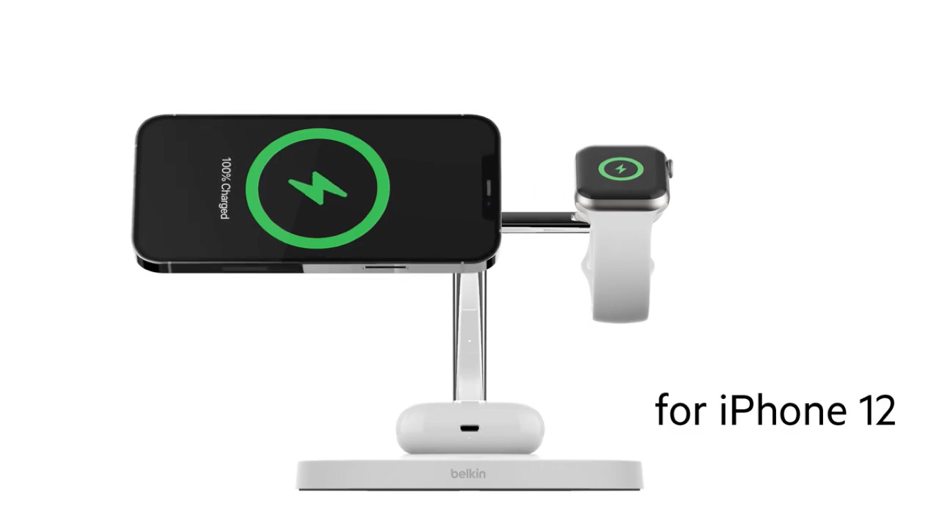 MagSafe 3-in-1 Wireless Charger for iPhone 12