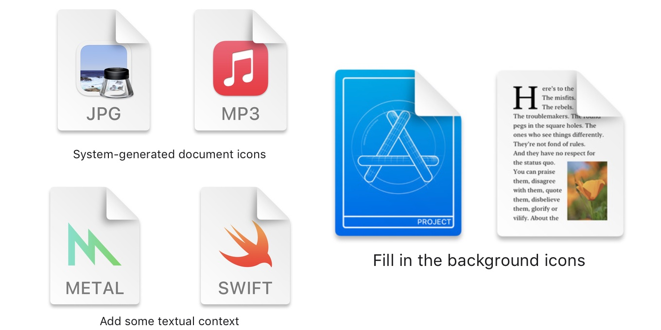 Design and implement macOS 11 docs icon