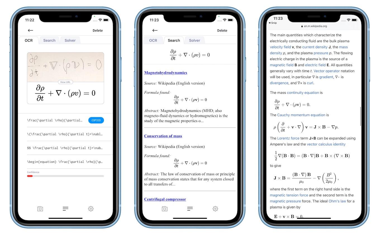 Mathpix SnipのSearch Tab
