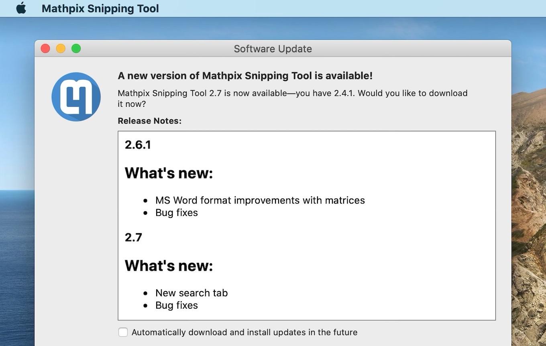 Mathpix Snip for Mac add new search tab