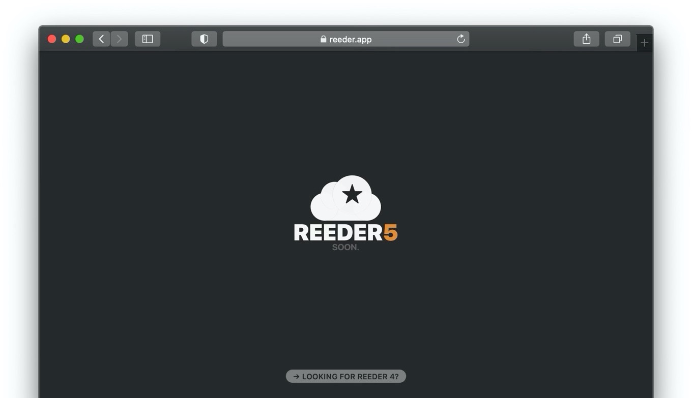 RSS Reeder 5 coming Soon