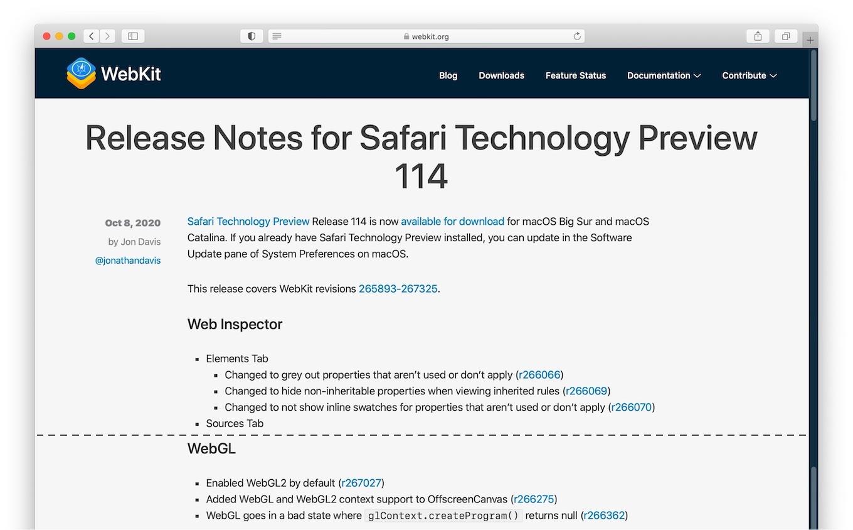 Safari Technology Preview 114