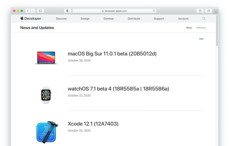 macOS Big Sur 11.0.1 beta Build 20B5012d