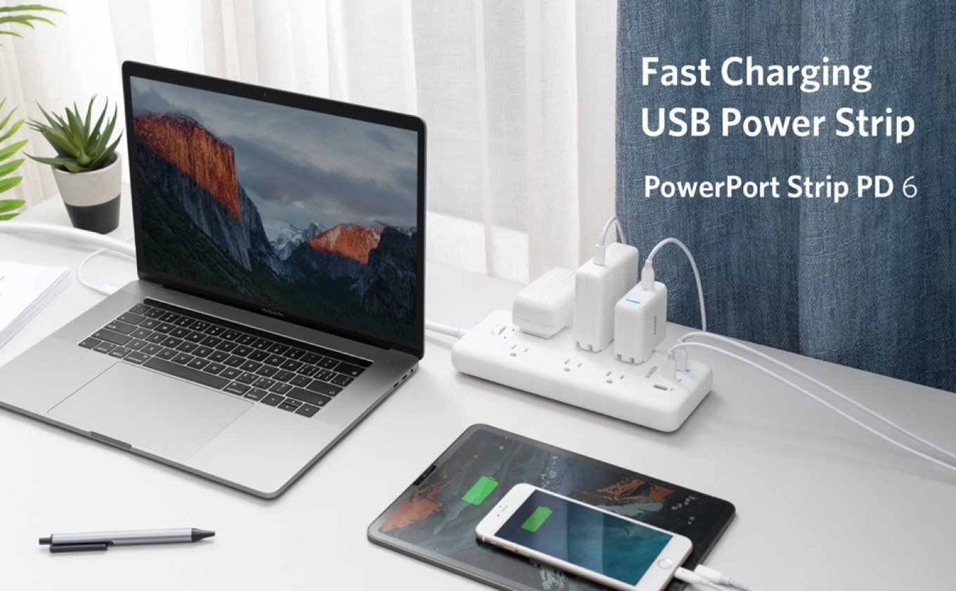 Anker PowerPort Strip PD 6 MacBook Hero