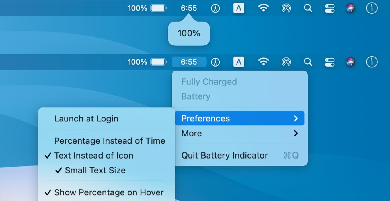Battery Indicator app
