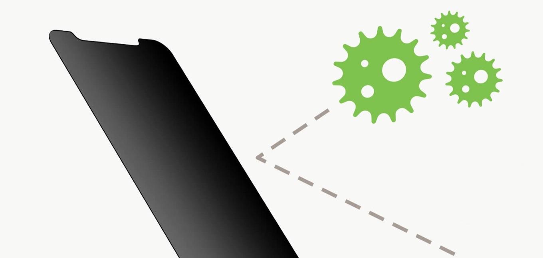 Belkin 保護フィルム 強化ガラス 抗菌 プライバシー保護