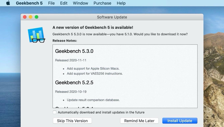 Geekbench 5.3