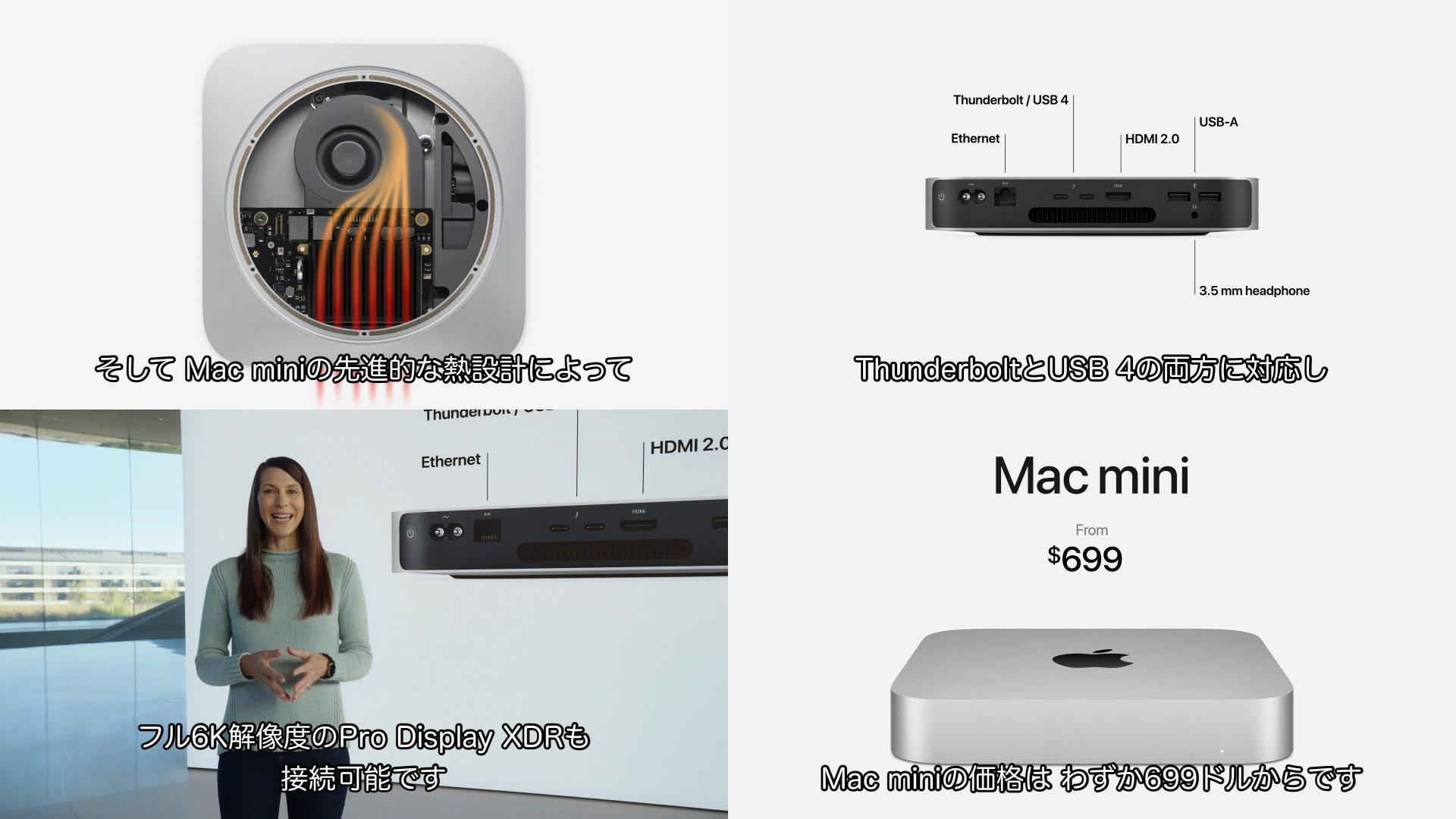 M1 Mac miniのスペック