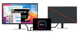 MacBook Pro (M1, 13-inch, 2020)とDP対応のディスプレイ