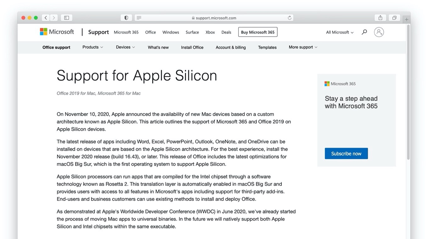 Support for Apple Silicon