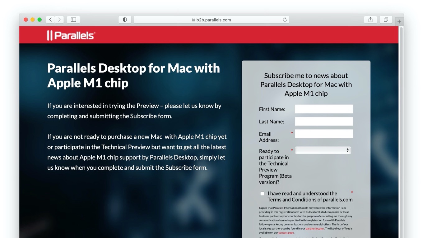 Parallels Desktop for Mac with Apple M1 chip