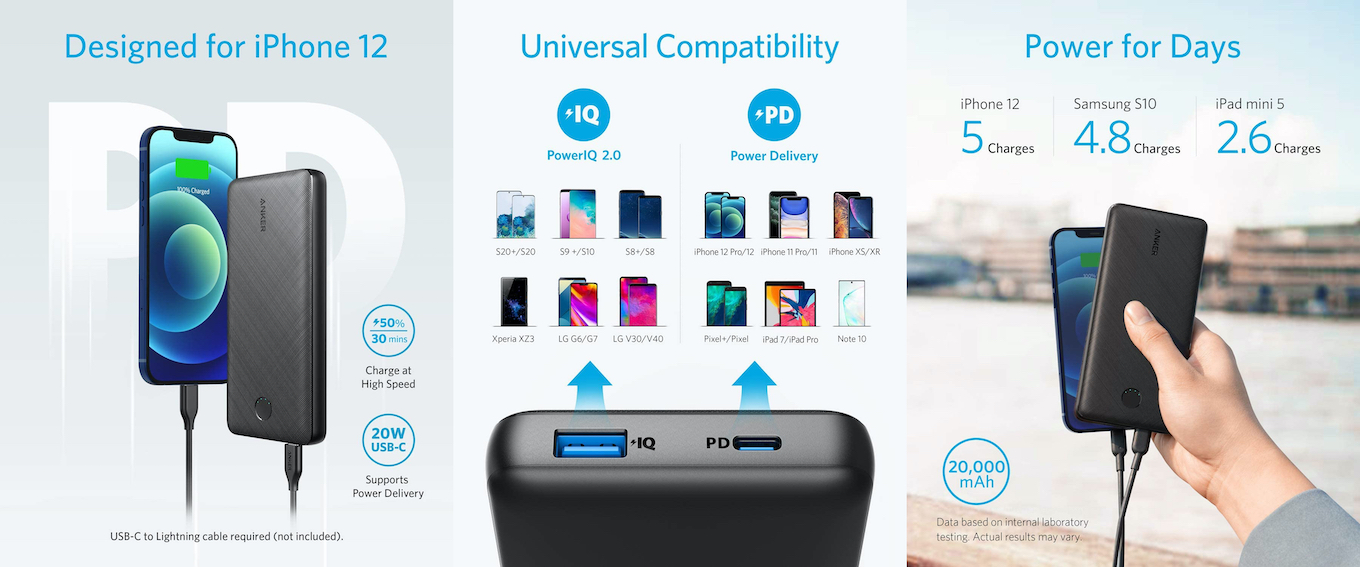 Anker PowerCore Essential 20000 PD 20W