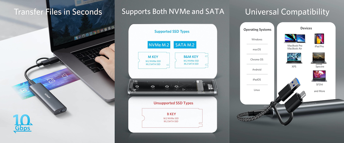 Anker PowerExpand M.2 SSD Enclosureのスペック