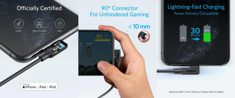 18W出力のPD対応USB急速充電器を