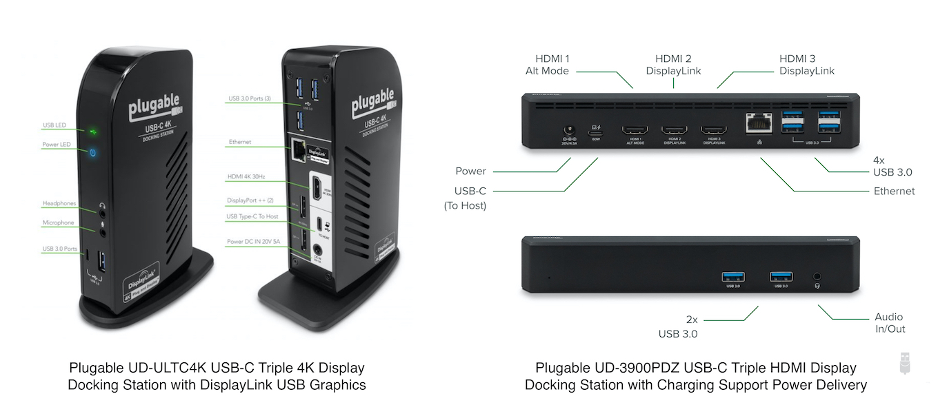 Plugable USB-C Triple Display Dock