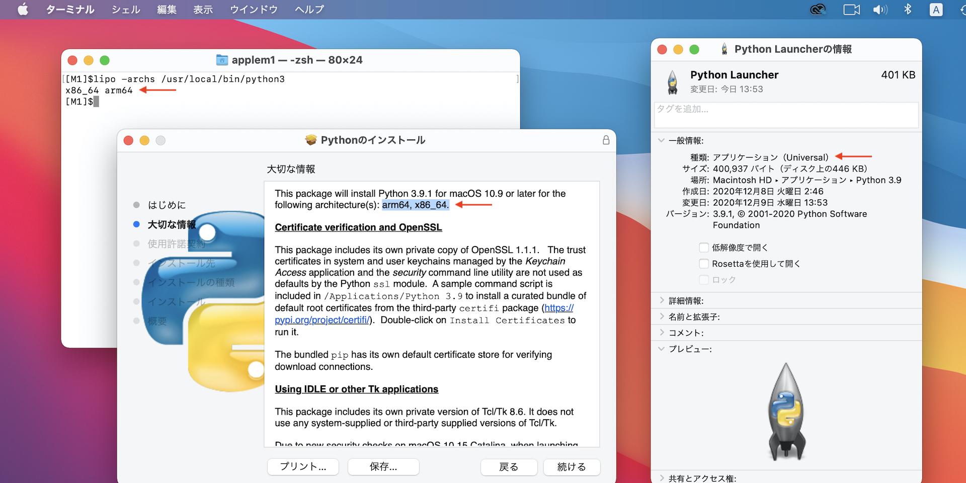 macOS 64-bit universal2 installer