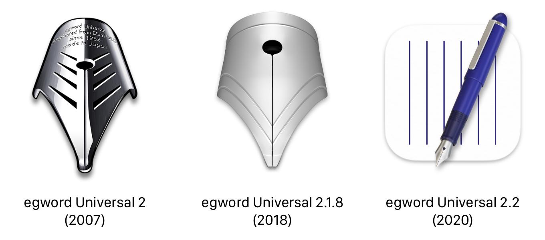 egword Universal 2アイコンの歴史