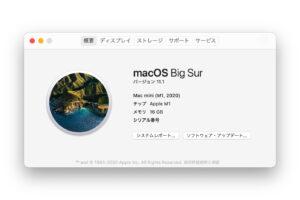 Mac mini (M1, 2020)のこのMacについて