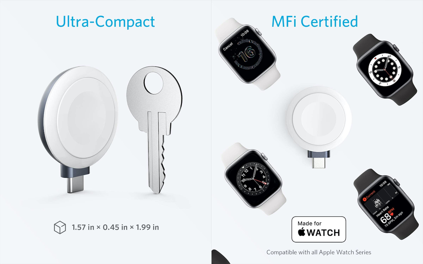 Anker Portable Magnetic Charger for Apple Watch