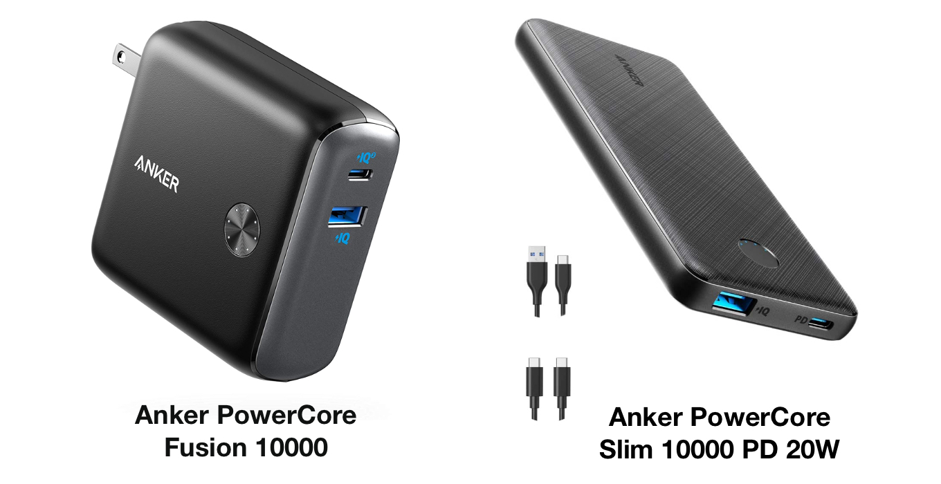 Anker PowerCore Fusion 10000 and Slim 10000 PD 20W