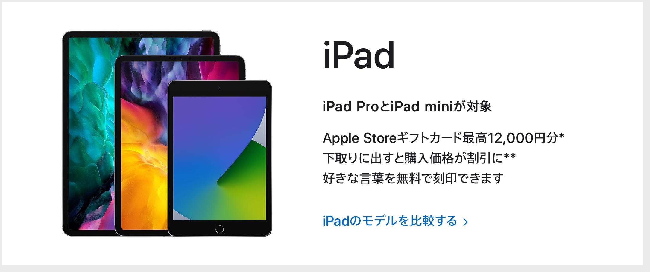 Appleの初売り2021 iPad