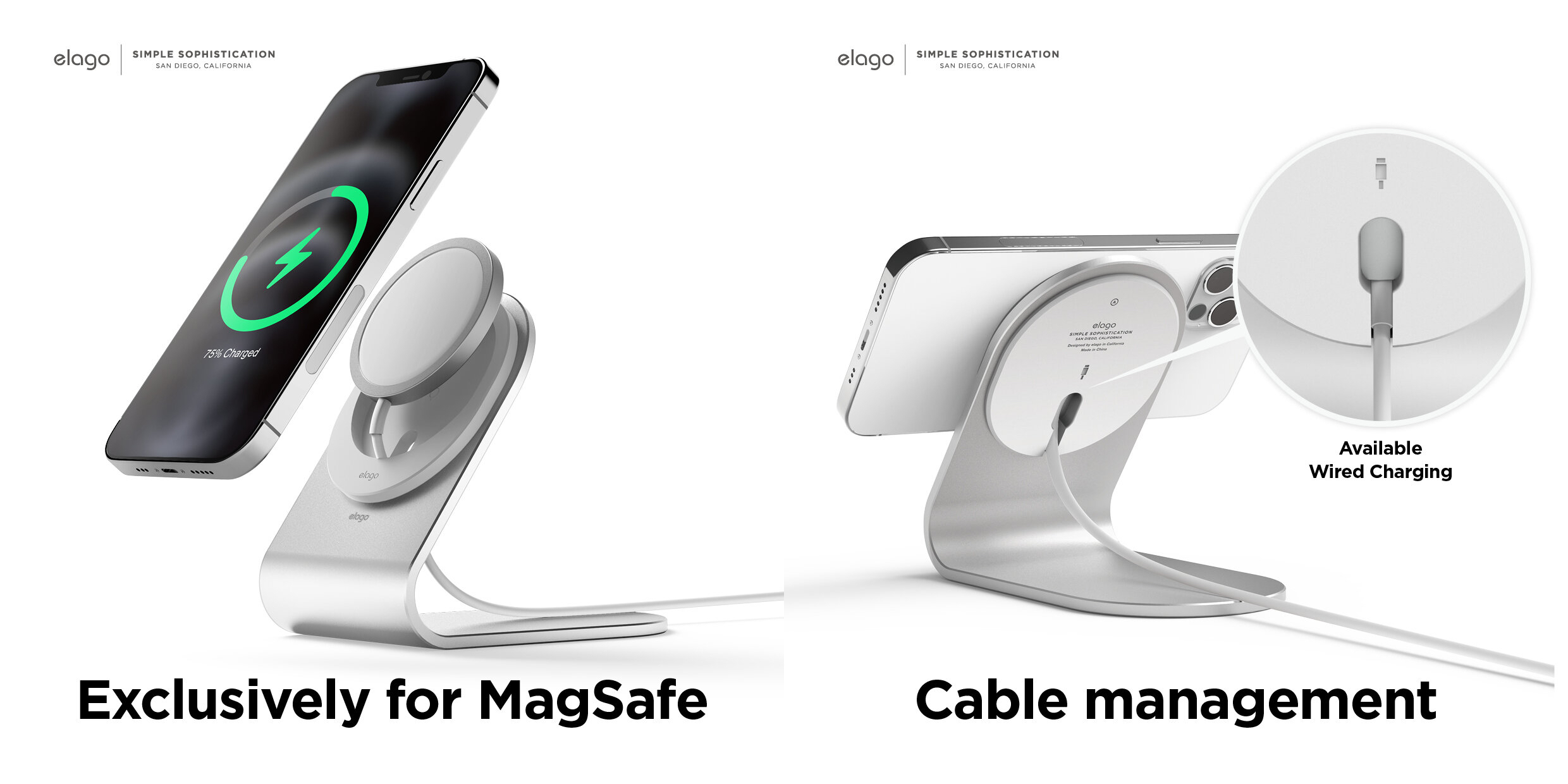 MS3 Aluminum Charging Stand for MagSafe